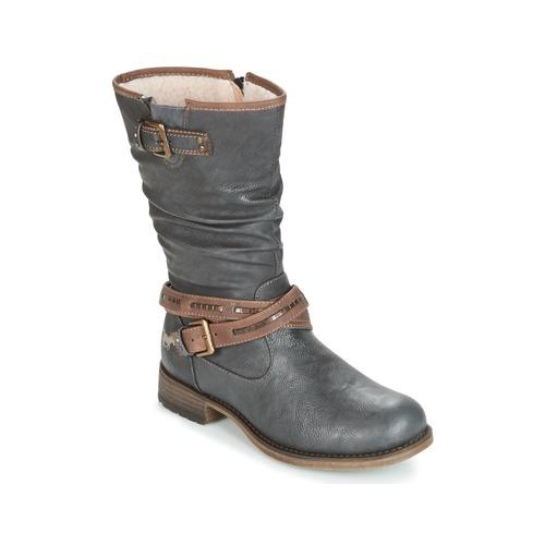 Mustang ISALBA Gris  - Chaussures Botte ville Femme