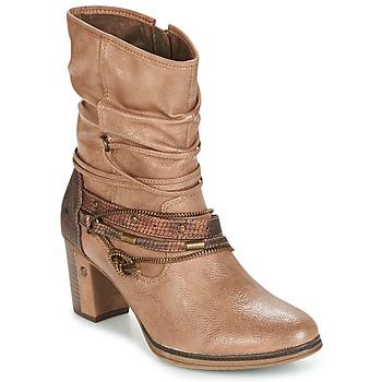 Chaussures Femme Bottines Mustang BUNDEN Beige