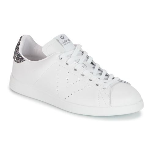 Chaussures Femme Baskets basses Victoria DEPORTIVO BASKET PIEL Blanc / Gris