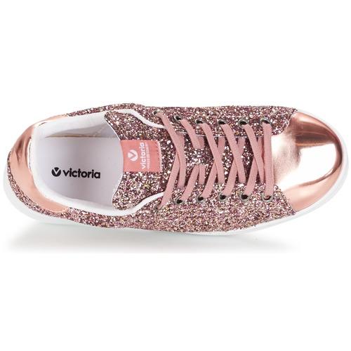 Rose Victoria Femme Baskets Glitter Deportivo Basket Basses 4Lc3A5Rjq