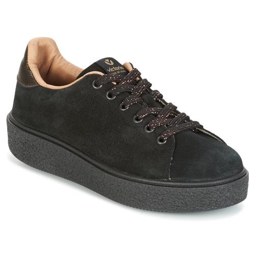 Femme Baskets Noir PNegro Victoria Chaussures Deportivo Basses Serraje O8kNnPX0w
