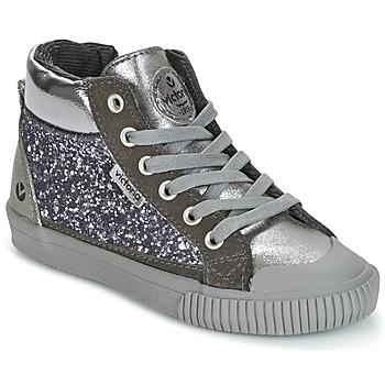 Chaussures Fille Baskets montantes Victoria BOTA PIEL PU/GLITTER Argenté