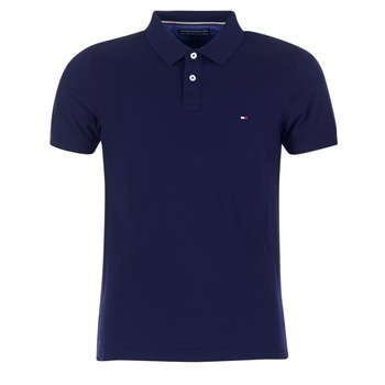 Vêtements Homme Polos manches courtes Tommy Hilfiger LUXURY SLIM FIT TIPPED Marine