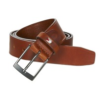 Accessoires textile Homme Ceintures Tommy Hilfiger TH LEATHER BELT 3.5 Marron