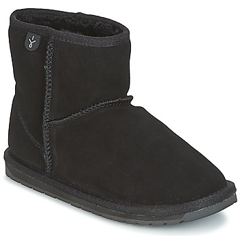 Chaussures Fille Boots EMU WALLABY MINI Noir