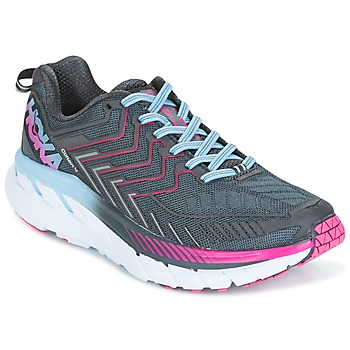 Chaussures Femme Running / trail Hoka one one CLIFTON 4 Gris