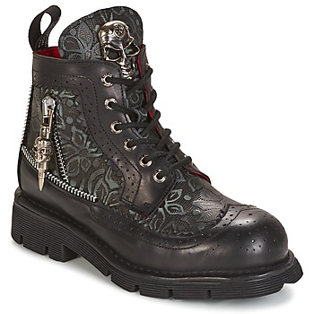 Chaussures Boots New Rock MORTY Noir