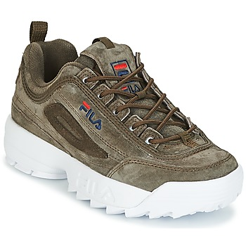 Chaussures Femme Baskets montantes Fila DISRUPTOR S LOW WMN Olive