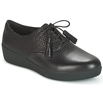 Chaussures Femme Derbies FitFlop CLASSIC TASSEL SUPEROXFORD Noir / Serpent