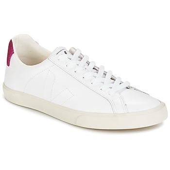 Chaussures Femme Baskets basses Veja ESPLAR LT Blanc pailleté / Magenta