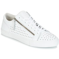 Chaussures Homme Baskets basses Jim Rickey ZED STUDS Blanc / Argent