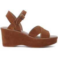 Chaussures Femme Sandales et Nu-pieds Kork Ease Sandalo con zeppa  Ava in pelle scamosciata cuoio Brun