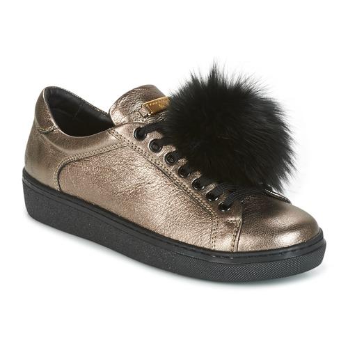 Chaussures Femme Baskets basses Tosca Blu CERVINIA POM PON Noir