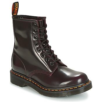 Chaussures Femme Boots Dr Martens 1460 Rouge cerise