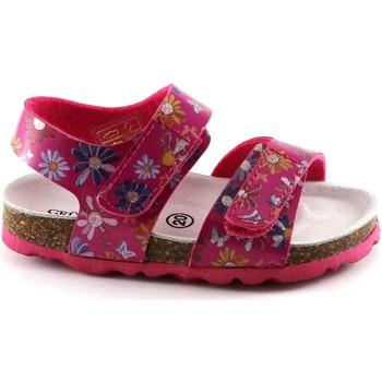 Chaussures Enfant Sandales et Nu-pieds Grunland Grünland LÉGER SB0807 sandales bébé fuchsia fantastique larme Bi Rosa