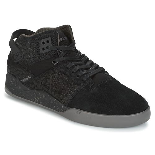 Supra SKYTOP III Noir / Gris  - Chaussures Basket montante