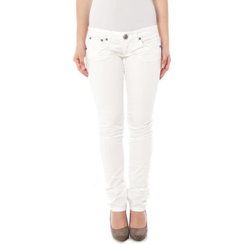 Vêtements Femme Chinos / Carrots Clink 5036 NADIRA blanc TC001