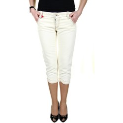 Vêtements Femme Pantacourts King's Jeans L670004 blanc 01