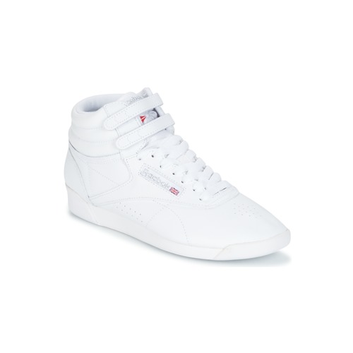 reebok classic freestyle hi blanc argent livraison gratuite avec chaussures. Black Bedroom Furniture Sets. Home Design Ideas
