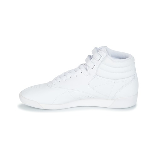 Classic Blanc Chaussures Freestyle Argent Reebok Hi dqpdt