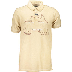 Vêtements Homme Polos manches courtes Geographical Norway KEBEL BEIGE BEIGE