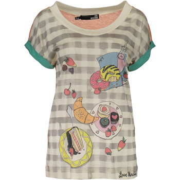 Vêtements Femme T-shirts manches courtes Love Moschino W 4 E18 01  M 3049 MULTICOLORE 4136