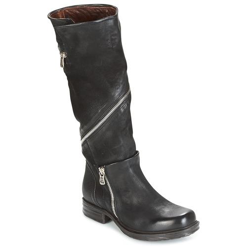 Airstep / A.S.98 SAINT EC ZIP Noir - Livraison Gratuite avec  - Chaussures Botte ville Femme