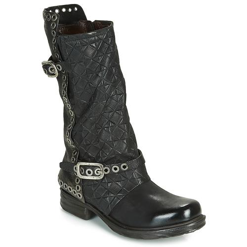 Chaussures Femme Bottes ville Airstep / A.S.98 SAINT EC BUCKLE Noir