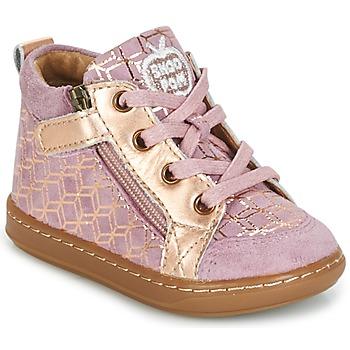 Chaussures Fille Baskets montantes Shoo Pom BOUBA BI ZIP Rose / Cuivre