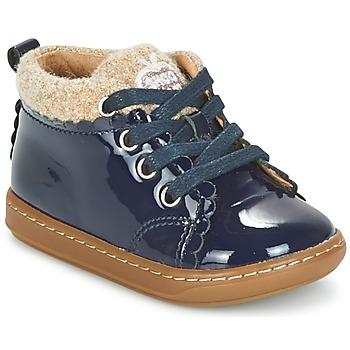 Chaussures Fille Boots Shoo Pom BOUBA WOOL Marine / Beige