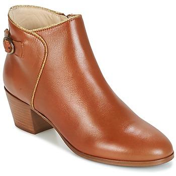 Chaussures Femme Bottines M. Moustache ELEONORE.M Cognac / Doré