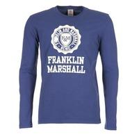 Vêtements Homme T-shirts manches longues Franklin & Marshall DESTU Marine