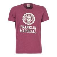 Vêtements Homme T-shirts manches courtes Franklin & Marshall GRAVI Bordeaux