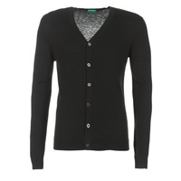 Vêtements Homme Gilets / Cardigans Benetton MELODY Noir