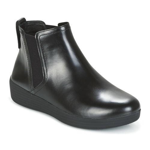 Chaussures Femme Bottines FitFlop SUPERCHELSEA BOOT All Black