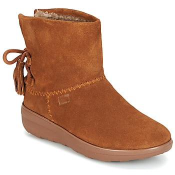 Chaussures Femme Bottines FitFlop MUKLUK SHORTY II BOOTS  WITH TASSELS Chestnut