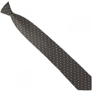Cravates et accessoires Andrew Mac Allister cravate en soie smart marron