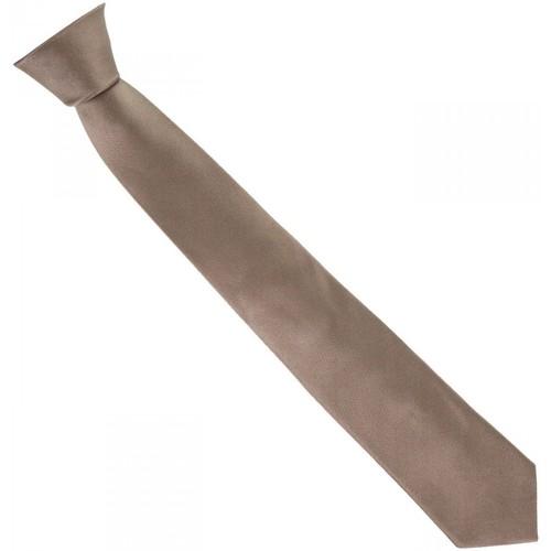 Vêtements Homme Cravates et accessoires Andrew Mc Allister cravate en soie classic marron Marron