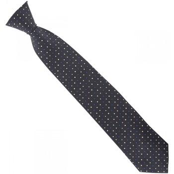 Vêtements Homme Cravates et accessoires Emporio Balzani cravate soie tissee business gris Gris