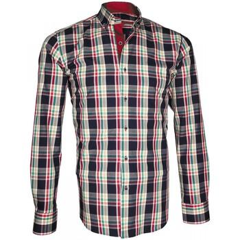 Vêtements Homme Chemises manches longues Andrew Mc Allister chemise ecossais week-end bleu Bleu