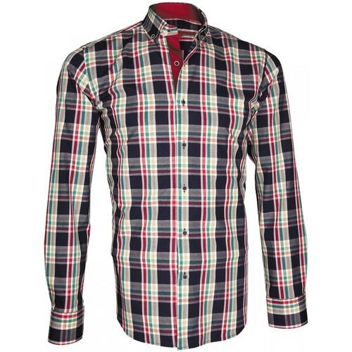 Vêtements Homme Chemises manches longues Andrew Mac Allister chemise ecossais week-end bleu Bleu