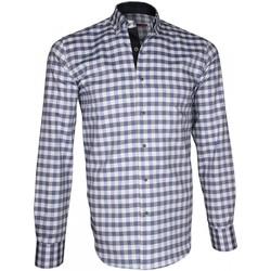 Vêtements Homme Chemises manches longues Andrew Mc Allister chemise sport week-end bleu Bleu