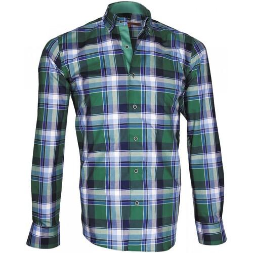 Vêtements Homme Chemises manches longues Andrew Mac Allister chemise ecossais week-end vert Vert