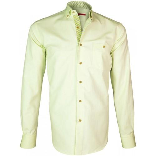 Vêtements Homme Chemises manches longues Andrew Mac Allister chemise oxford derby vert Vert