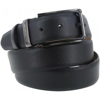 Accessoires textile Homme Ceintures Emporio Balzani ceinture cuir fluvio noir Noir