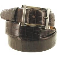 Accessoires textile Homme Ceintures Emporio Balzani ceinture cuir gino marron Marron