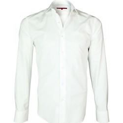 Vêtements Homme Chemises manches longues Andrew Mc Allister chemise tissu armure seven blanc Blanc