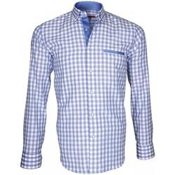 Vêtements Homme Chemises manches longues Andrew Mc Allister chemise bucheron lumberjack bleu Bleu