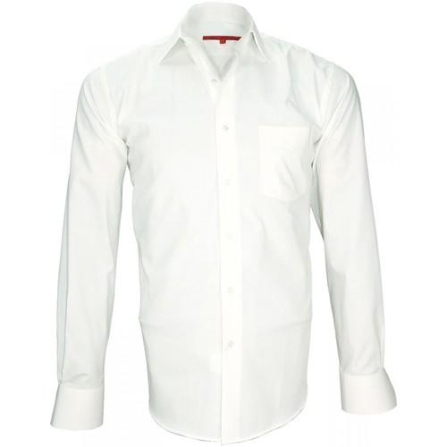 Vêtements Homme Chemises manches longues Andrew Mac Allister chemise classique tradition blanc Blanc