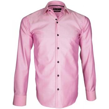 Vêtements Homme Chemises manches longues Emporio Balzani chemise haut de gamme biagi rose Rose